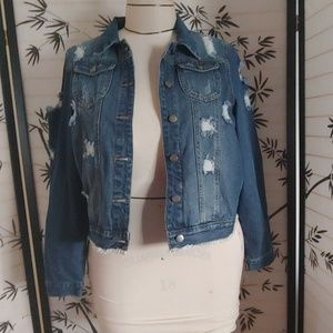Brand new denim jean jacket with and without origi